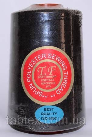 Швейная нитка №36 (20/3) черная (2500Y)Китай