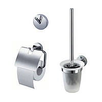 Twin Набор аксессуаров (крючок для полотенец, ершик для туалета, бумагодержатель)