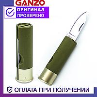 Туристический складной нож Ganzo со стальным лезвием Ганзо G624M-GR (зелёный)
