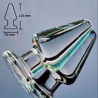 Анальная пробка стекло конус, фото 1