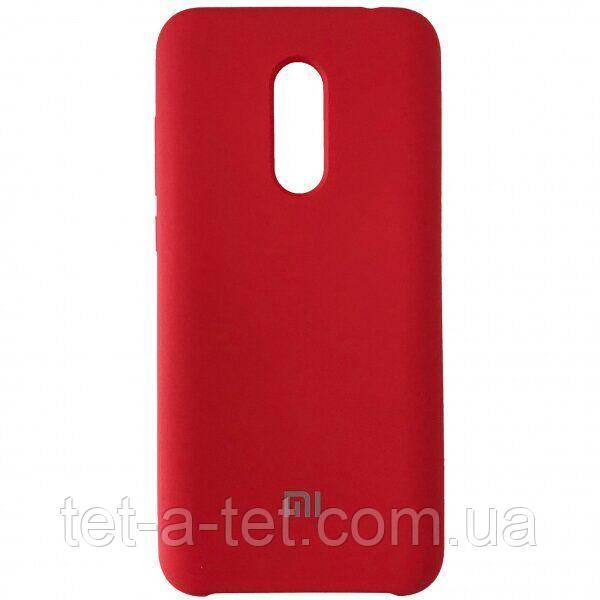 Силиконовый чехол-накладка Color Silk для Xiaomi Redmi 5 Plus Red