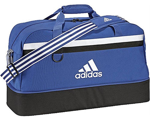 Спортивно-дорожная сумка большого размера 75 л. Adidas TIRO TB BC L S30263 синий с черным