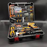 Набор слесарного инструмента Профессиональные инструменты для дома Большой набор слесаря с шуруповертом