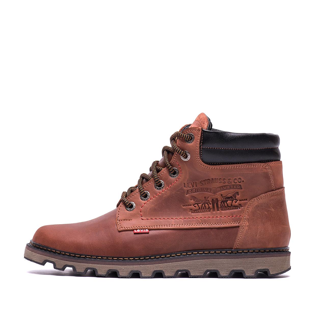 Мужские зимние кожаные ботинки Levis Expensive Fox (реплика)