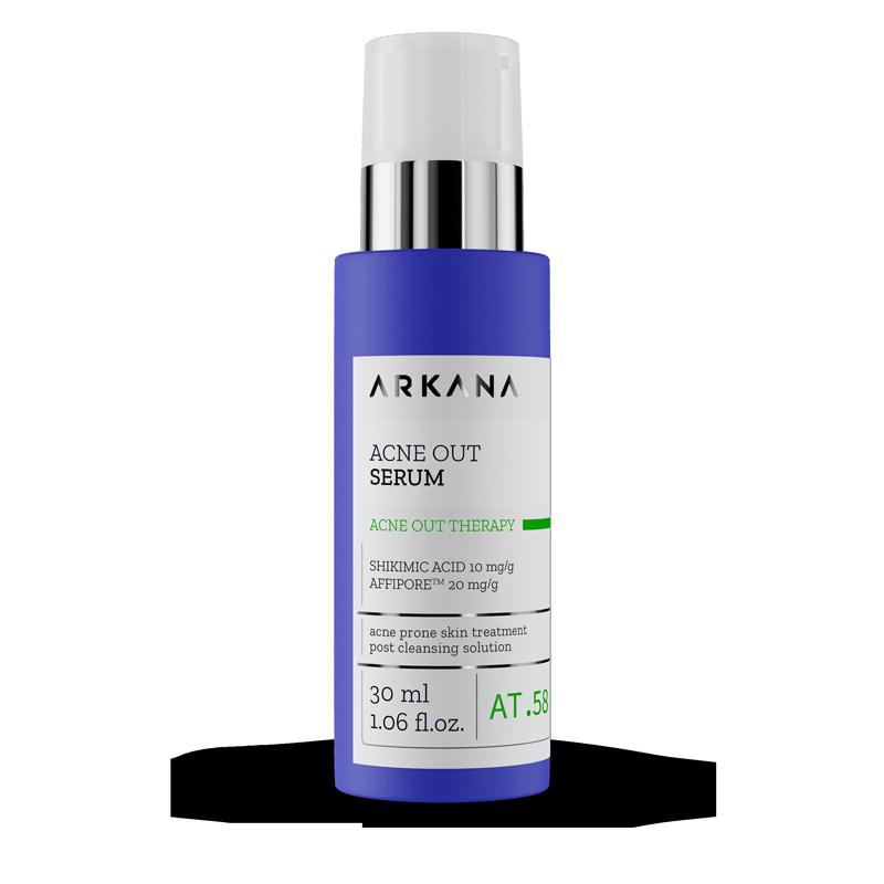 Сироватка для жирної шкіри з акне та комбінованої шкіри Аркана Acne Out Serum Arkana 30 мл