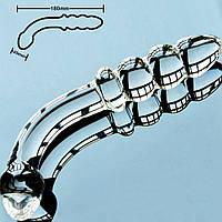Фалос подвійний прозорий скляний, фото 1