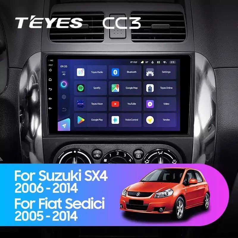 Штатная магнитола TEYES CC3  Suzuki SX4 1 2006 - 2014 For Fiat Sedici 2005 - 2014