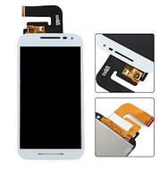 Дисплей для Motorola XT1540 Moto G3 | XT1541 | XT1544 | XT1548 | XT1550 с сенсорным стеклом (Белый) Оригинал