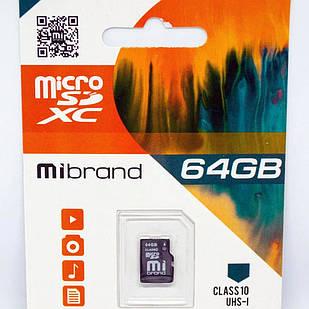 Micro SD Mibrand 64GB class 10 + adapter