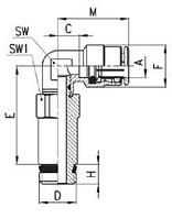 FAC08-G3/8 Фитинг Угловой удлинённый