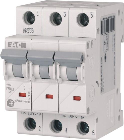 Автоматический выключатель Eaton xPole Home HL-C6/3, 6A 3P