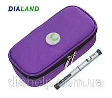 Термо чехол для транспортировки шприц-ручек и инсулина MEETCARE фиолетовый
