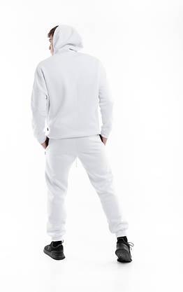 Худи Мужское Intruder белое Oversize на флисе спортивная кофта теплая, фото 3