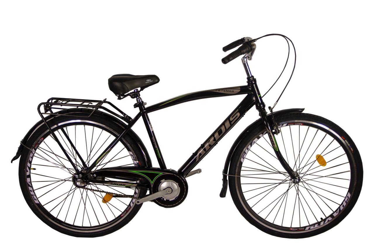 """Городской велосипед Ardis Гетьман 28"""" с багажником, Черный"""