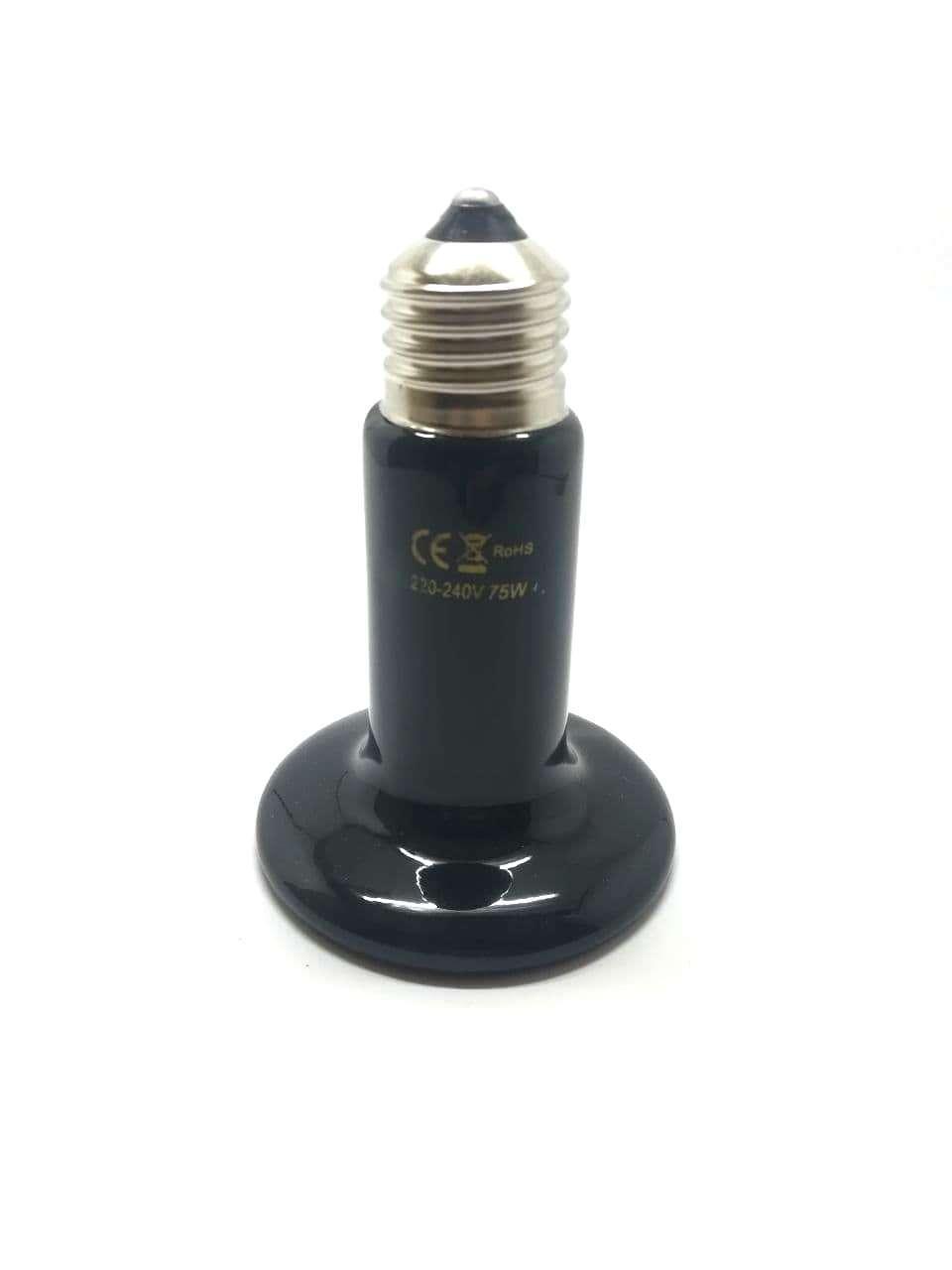 Инфракрасная керамическая лампа (излучатель) в инкубатор для обогрева 75W / 220-240V