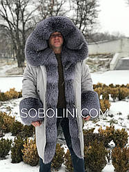 Парка мужская  с мехом Blue Frost под заказ
