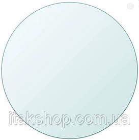 Скатерть мягкое стекло на круглый стол Soft Glass (Ø - 1.0м) толщина 1.5 мм Прозрачная