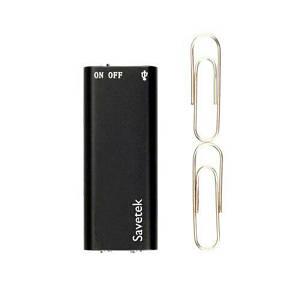 Мини диктофон с активацией голосом Savetek 100 (200) 16 Гб MP3 VOX 12 часов записи (02371)