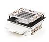 Мощная врезная маникюрная вытяжка Teri 600 с НЕРА фильтром с нержавеющей, белой и черной сеткой