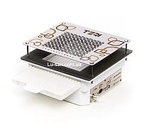 Мощная врезная маникюрная вытяжка Teri 600 с НЕРА фильтром с нержавеющей, белой и черной сеткой, фото 1