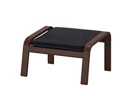 ІКЕА POÄNG ПОЕНГ (492.446.81) Підставка для ніг, коричневий/КНІСА чорний