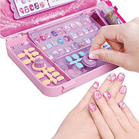 """Игровой набор для девочек в чемодане Lesko """"Студия маникюра"""" 55002 Pink детская косметика, фото 4"""