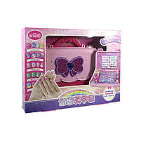"""Игровой набор для девочек в чемодане Lesko """"Студия маникюра"""" 55002 Pink детская косметика, фото 6"""