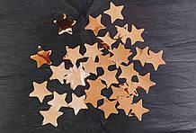 Аксесуари для свята конфеті Конфеті зірка рожеве золото 35мм 50 грам