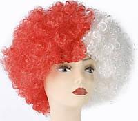 Парик Клоуна (Бело-Красный)