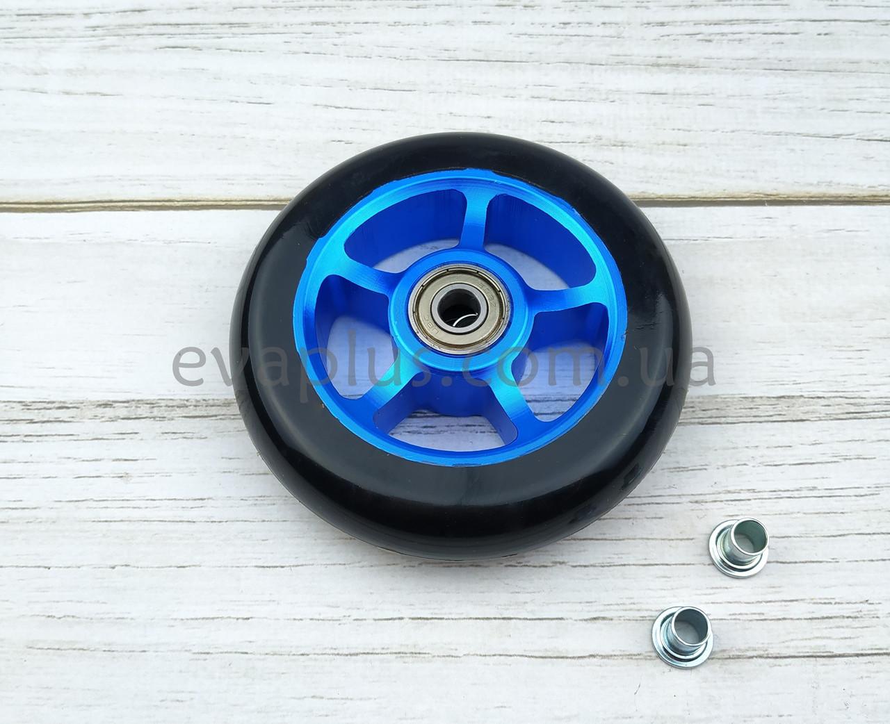 Колеса полиуретановые 100 мм (черное с алюминиевой вставкой)