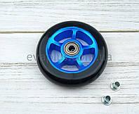 Колеса полиуретановые 100 мм (черное с алюминиевой вставкой), фото 1