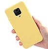 Чехол силиконовый для Xiaomi Redmi Note 9 Pro желтый