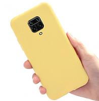 Чехол силиконовый для Xiaomi Redmi Note 9 Pro желтый, фото 1