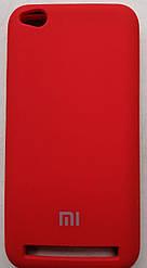 Силиконовый чехол-накладка Color Silk для Xiaomi Redmi 5A Red