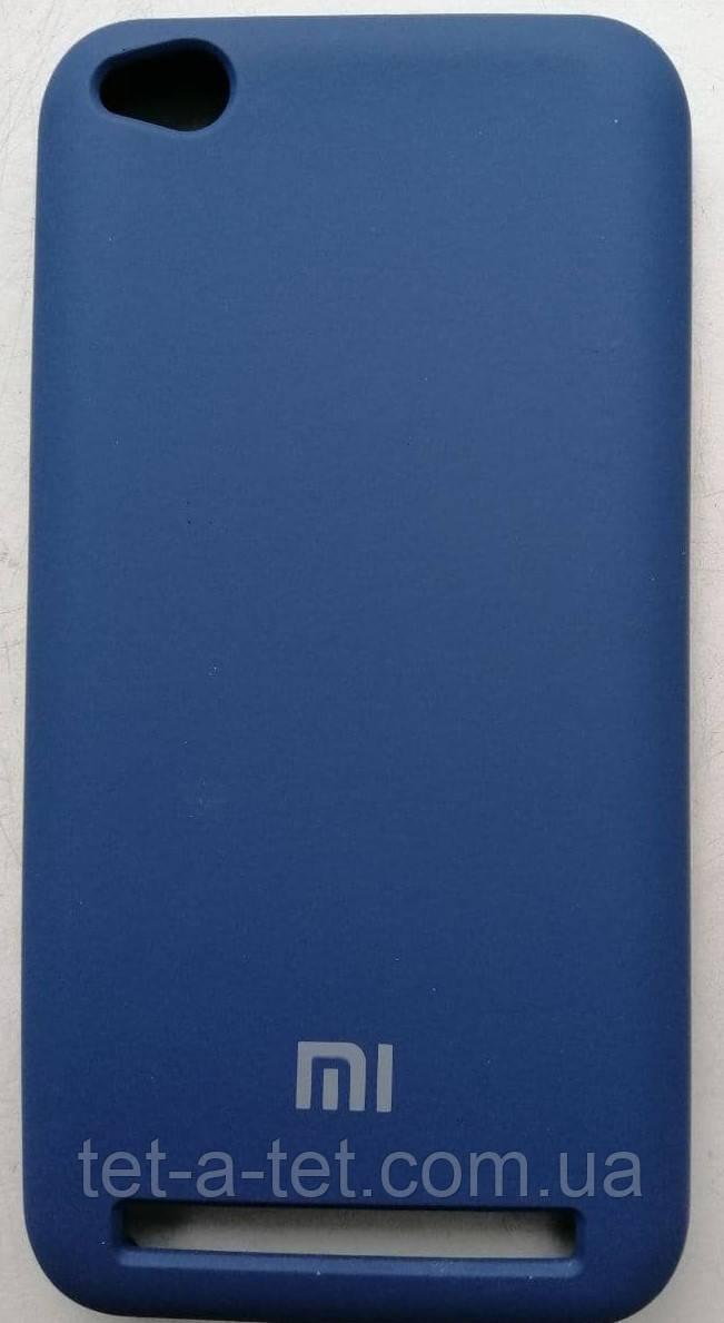 Силиконовый чехол-накладка Color Silk для Xiaomi Redmi 5A Blue