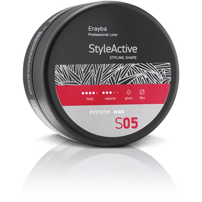 Воск для укладки волос сильной фиксации Erayba S05 Style Active Extreme Wax 90 мл