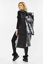 Зимняя куртка женская цвет серебро модель 42650, фото 3