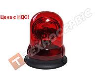 Маячок проблесковый красный 12 вольт (мигалка) EMR-01R стационарное крепление (пр-во Турция) (Цена с НДС)