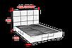 Кровать 180 Мега Алiс-М (железный каркас), фото 2