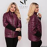 Демисезонная куртка женская Плащевка на синтепоне Размер 50 52 54 56 58 60 62 64 В наличии 3 цвета, фото 7