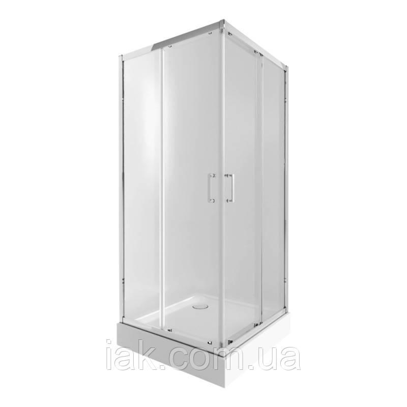 Набір Qtap душова кабіна Taurus CRM1099SC6 Clear + піддон Unisquare 309915