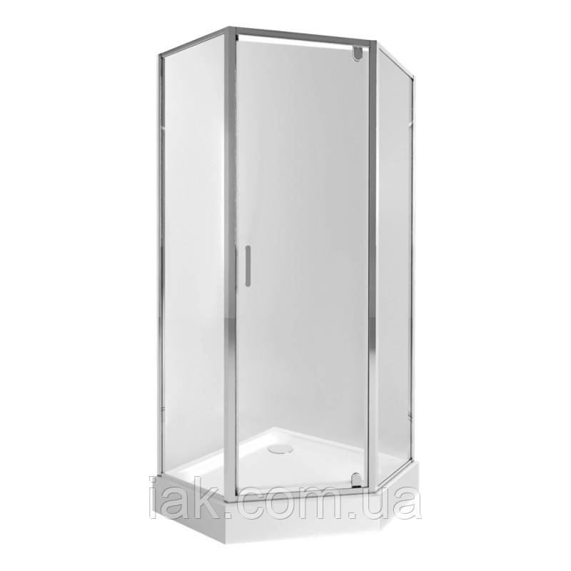 Набір Qtap душова кабіна Leo CRM10995-AC6 Clear + піддон Leoscorp 309915