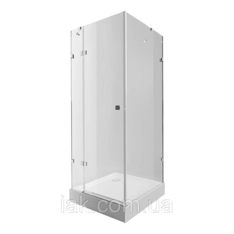 Набір Qtap душова кабіна Capricorn CRM1099SC6 Clear + піддон Unisquare 309915