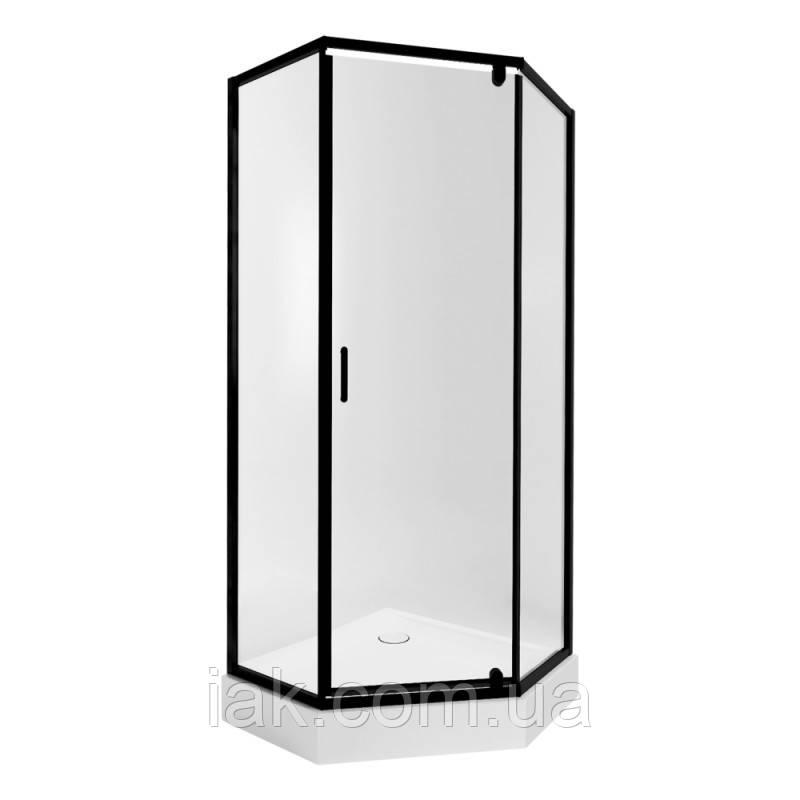 Набір Qtap душова кабіна Scorpio BLA10995-AC6 Clear + піддон Leoscorp 309915