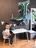 Дитячий стіл, 1 стілець (дерев'яний стільчик зайчик і квадратний столик), фото 3
