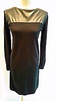Платье Bottega Veneta трикотаж с кожаными вставками