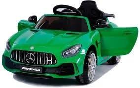 Електромобіль 2*6V4 5AH 25W*2  колеса EVA Зелений  шкіра C1904