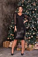 Платье женское черное Монро 48-58 рр, фото 1