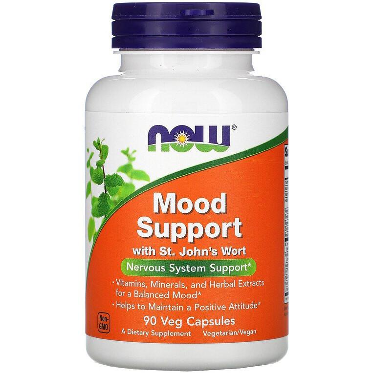 """Комплекс для поддержки нервной системы NOW Foods """"Mood Support with St. John's Wort"""" со зверобоем (90 капсул)"""