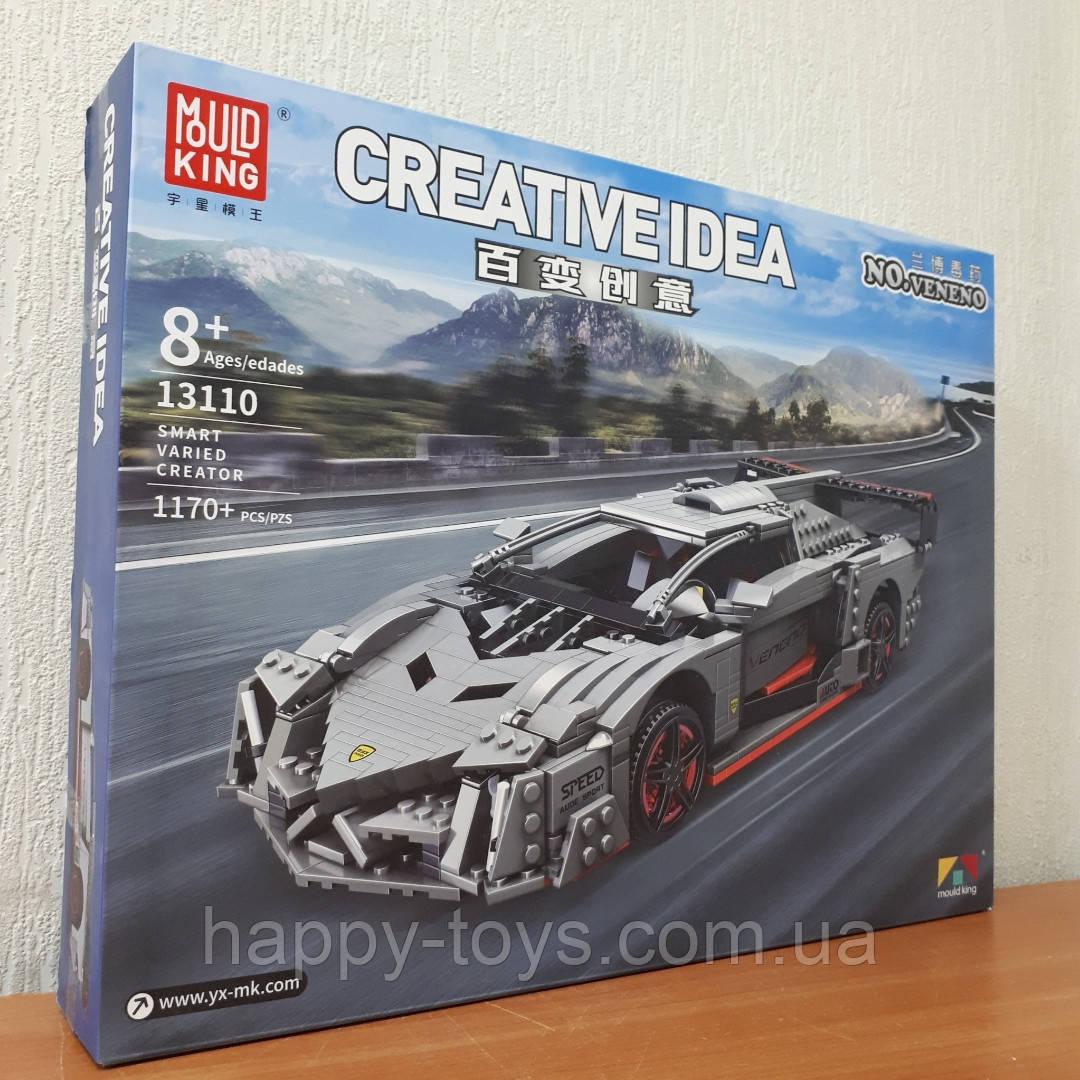 Конструктор Lamborghini Veneno Create Ламборгини Венено Mould King 13110 1170 деталей